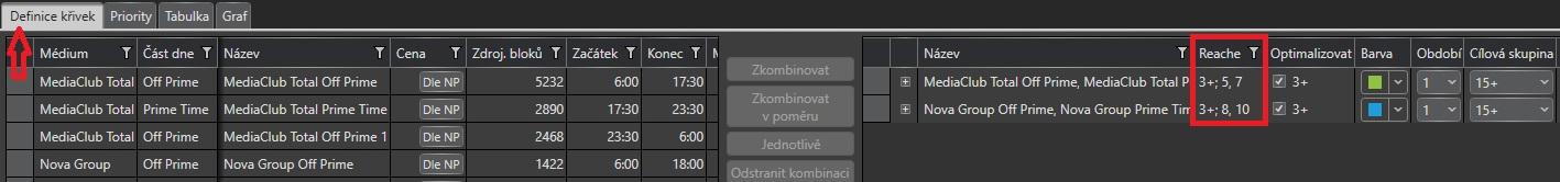 Nový typ filtru v okně podmínek